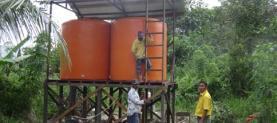 Installation of hygiene water
